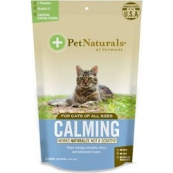 Calming Supplements for Cats 30 Chews by Pet Naturals of Vermont