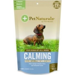 Calming Supplements for Dogs 30 Chews by Pet Naturals of Vermont