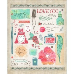 Canvas on Demand Poster Print 16 x 20 entitled Love Notes