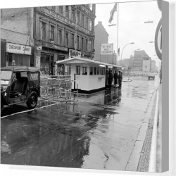 Canvas Print. Allied Checkpoint Charlie, West Berlin, Germany