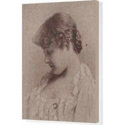 Canvas Print. Annie Robe Wallace, from the Actresses series (N67) promoting Virginia Brights Cigaret