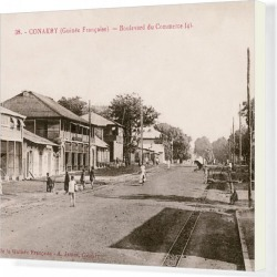 Canvas Print. Boulevard du Commerce in Conakry, Guinea