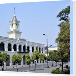 Canvas Print. Cabildo, former seat of the colonial government in Salta, Argentina, South America
