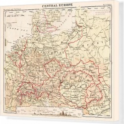 Canvas Print. Central europe map 1867