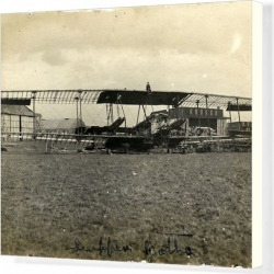 Canvas Print. Extreme Biplane Comparison, Airfield, Germany