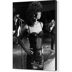 Canvas Print. Female singer in concert, Penwith, Cornwall