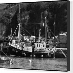 Canvas Print. Fishing boat Mevagissey Cornwall UK