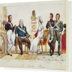 Canvas Print. French Royal Family in 1814. The Count of Artois