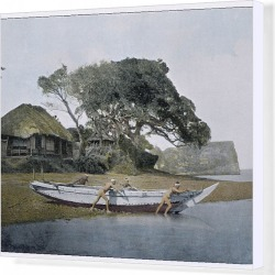 Canvas Print. Japanese Fishing Boat