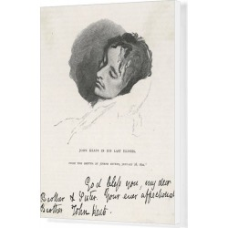 Canvas Print. John Keats/Last Illness