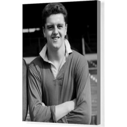 Canvas Print. Pa News Photo 29/8/56 Tommy Taylor Forward of Manchester United F.C. who Died in the Munich Aircrash on 6/2/58 Car