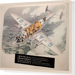 Canvas Print. Poster, Imperial Frobisher Airliner