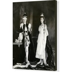 Canvas Print. Prince Edward and Princess Mary at the 1911 coronation