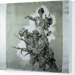 Canvas Print. Pro Italia - Allies and Brothers-In-Arms for Justice