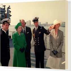 Canvas Print. Queen Elizabeth II and Prince Philip in Portsmouth