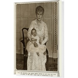 Canvas Print. Queen Mary with grandchild Prince Edward