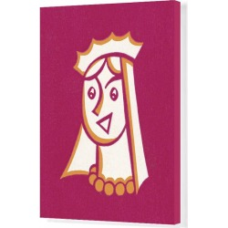 Canvas Print. Queen Wearing Crown and Veil