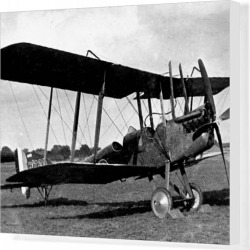 Canvas Print. Royal Aircraft Factory BE 2E seen in final version