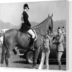 Canvas Print. Royalty - Queen and Princess Anne - Windsor Great Park