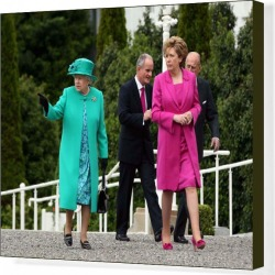 Canvas Print. Royalty - Queen Elizabeth II State Visit to Ireland