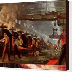 Canvas Print. Steel Manufacturing
