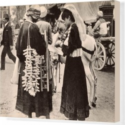 Canvas Print. Street Sellers in Cairo, Egypt