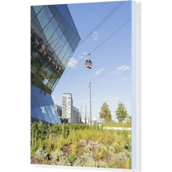 Canvas Print. The Crystal building and the Emirates Airline Cable car, London, England, UK