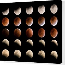 Canvas Print. Total Lunar eclipse in Thailand January 31, 2018