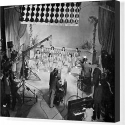 Canvas Print. TV Filming, 1940S