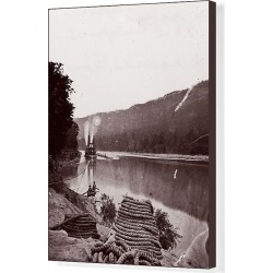 Canvas Print. U.S. Transport in Rapids, Tennessee River/The Suck - Tennessee River below Chattanooga