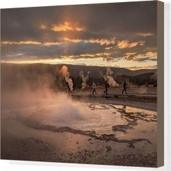Canvas Print. USA, Wyoming, Yellowstone, National Park, UNESCO, World Heritage