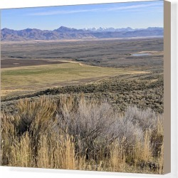 Canvas Print. View from Scenic Overlook on Highway 46 towards Lost River Range, Idaho, USA