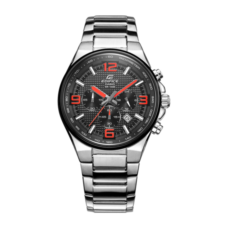 Casio EFR-515D-1A4 Waterproof EDIFICE Stainless Steel Strap Mens Analog Watch EFR-515D-1A4 (Size: US Free)