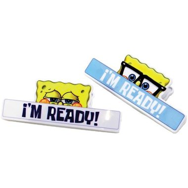 Chip Clip 90172 2-Piece Magnetic Sponge Bob