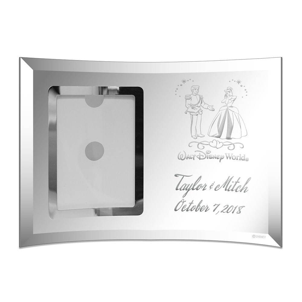 Cinderella and Prince Charming Glass Frame by Arribas Personalize Official shopDisney