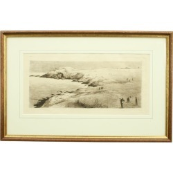 Cliff-top Golf Course, Etching