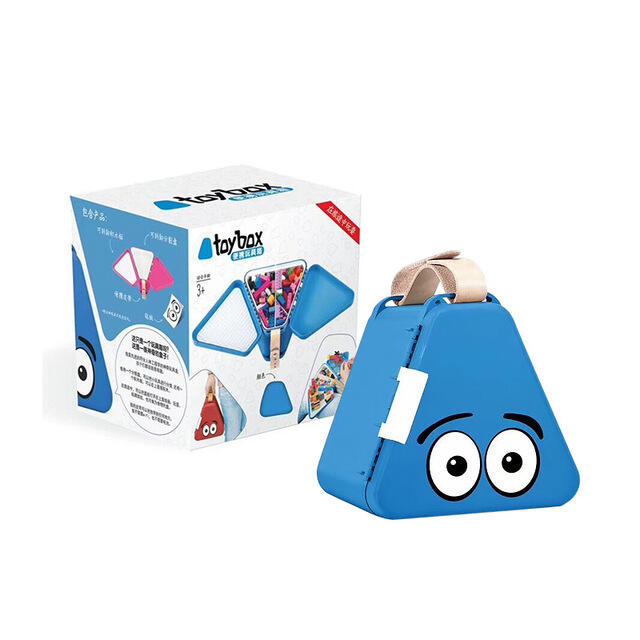 Creative Portable Building Blocks Kit in Blue. Size: One Size