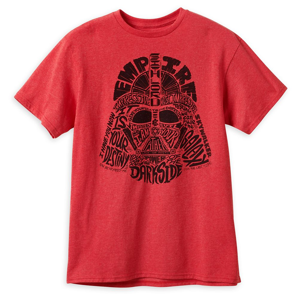 Darth Vader Words T-Shirt for Adults Official shopDisney