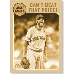 David Price gets win in series-clincher 2019 Heritage Baseball Base Poster Gold Ed. # to 1