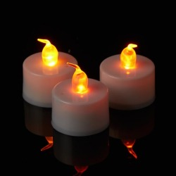 Decostar Warm White LED Tea Light Candle 6 Boxes of 12 - 72 Candles!