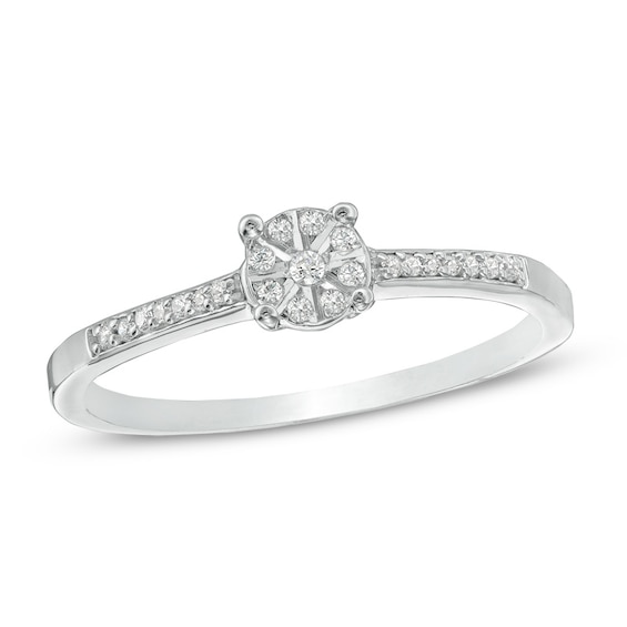 Diamond Accent Promise Ring in 10K White Gold