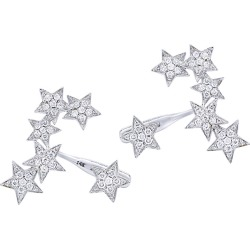 Diana M. Fine Jewelry 14K 0.80 ct. tw. Diamond Star Earrings