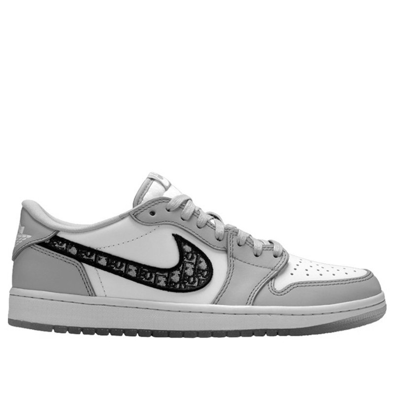 Dior x Air Jordan 1 Low Wolf Grey/Sail/Photon Dust/White Basketball Shoes/Sneakers CN8608-002 (Size: US 11)