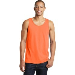 District Young Mens The Concert Tank - Neon Orange - S