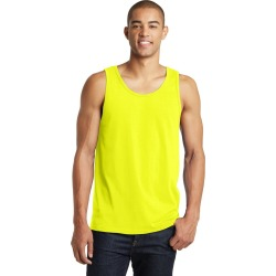District Young Mens The Concert Tank - Neon Yellow - S