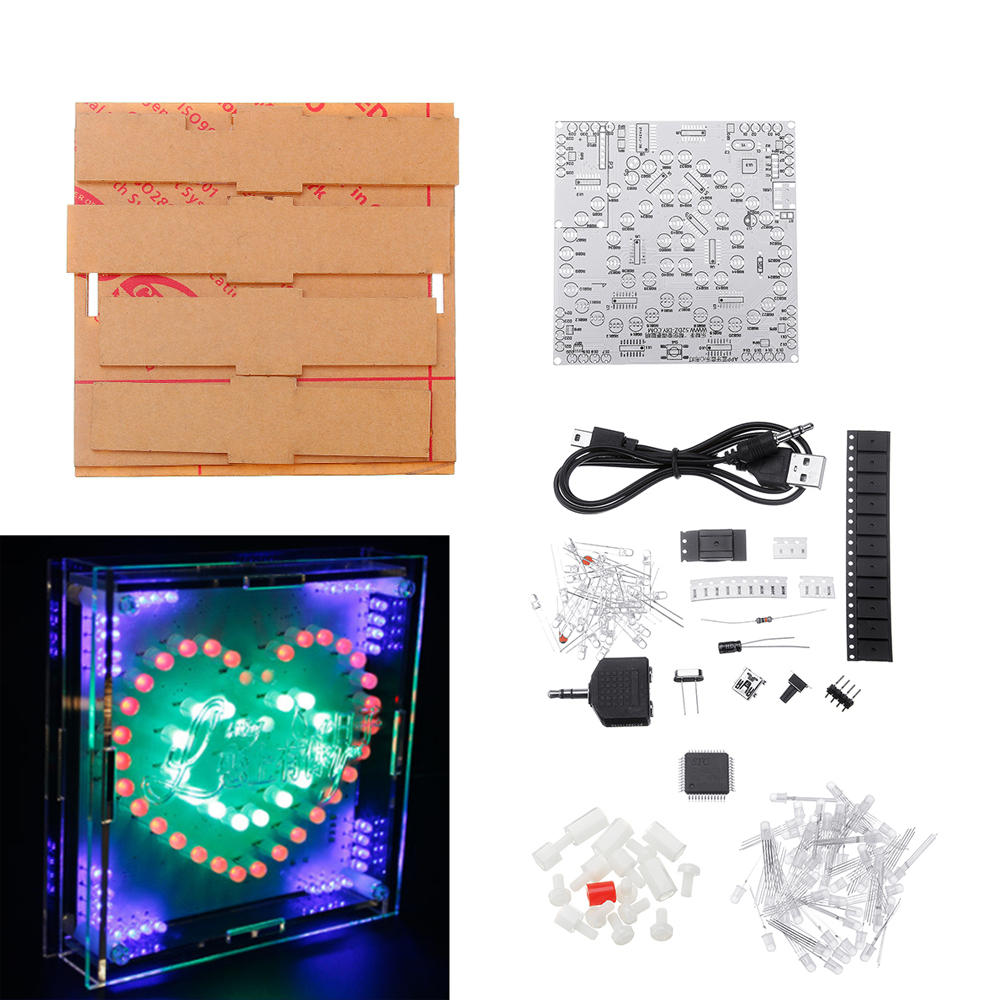 DIY Full Color Heart-shaped LED Electronic Kit PCB Circuit Board Kit With Shell