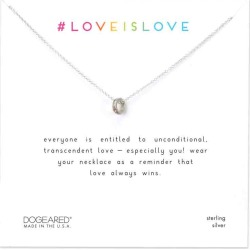 Dogeared Love is Love Teeny Ring Necklace in Sterling Silver