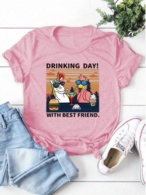 Drinking Day Animal Graphic Tee