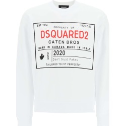 DSQUARED2 PROPERTY OF DSQUARED2 PRINT SWEATSHIRT XL White, Red, Black Cotton