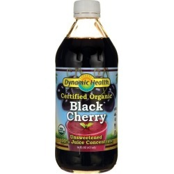 Dynamic Health Certified Organic Black Cherry Unsweetened 100% Juice Con 16 fl oz Liquid Joint Health